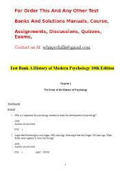 test bank a history of modern psychology 10th edition psychology