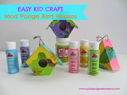 the art photo easy kid craft mod podge bird houses