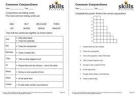 using common conjunctions skills workshop