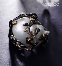 v shape diamond with fresh water pearl ring christine k jewelry freshwater pearl ring with diamond vilado premium