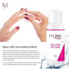 mylee 100 pure acetone 300ml superior quality nail polish remover