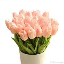 tulips flowers 2018 tulip single stem 10 heads artificial tulips real touch pu