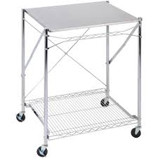 honey can do urban stainless steel folding work table cart with