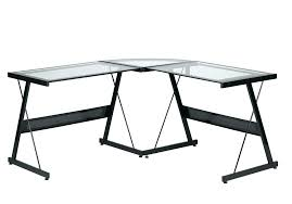Glass L Shaped Computer Desk with Glass L Shape Desk Living Glass L Shaped Office Desk Computer