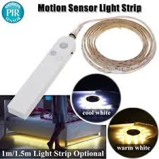 motion activated led light strip 1m 1 5m pir motion sensor activated led light strip wardrobe battery