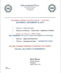 Dinner Party Agenda - uaw 1714 home facebook