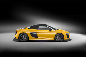 audi r8 2017 audi r8 v10 spyder test look and listen motor trend
