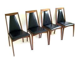 Set Of Four Dining Chairs Mid Century Modern Teak Furniture Set Of Four Teak Dining Chairs
