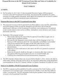 Event Fact Sheet Template Exceptional Events Rule National Tribal Air Association