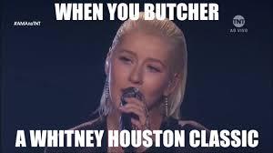 Christina Aguilera Meme - whitney houston responds to christina aguilera whitney houston