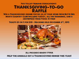 fox valley humane association thanksgiving to go raffle