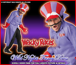 fancy dress costume wacky races dastardly xl