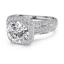 10000 engagement ring ritani cushion halo diamond white gold semi mount