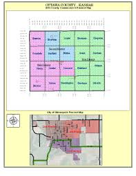 Culver City Map Ottawa County Kansas U003e Elected Officials U003e Commissioners