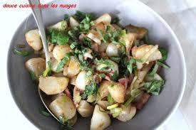 cuisiner navets nouveaux poêlée printanière navets oignons aillets et menthe douce