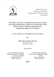 thesis title about physical education author hassan heba hassan hafez title the effects of using a