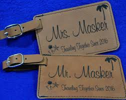 and groom luggage tags luggage tags groomsmen gift bridal party gift leather