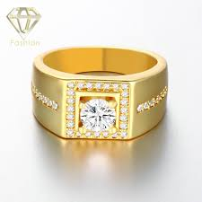 popular cheap gold rings for men buy cheap white gold plated men ring square shaped with side stones cz