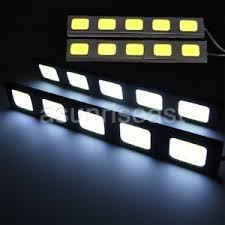 cob led light bar 2x white 15cm super bright 5 led cob car led light bar drl fog