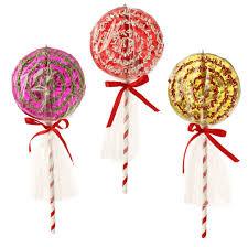 raz sprinkles 10 inch lollipop ornaments shelley b home