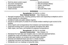 Receptionist Resume Examples by Secretary Resume Template Entry Level Medical Receptionist Resume