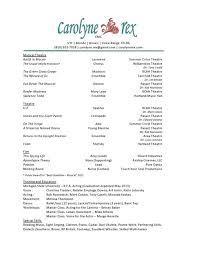 Acting Resume Creator by Theatre Resume Template Resume Badak