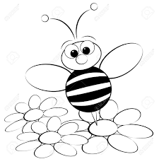 kids illustration with ant and daisy coloring page royalty free