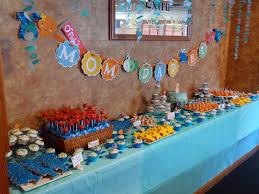 under the sea themed baby shower dessert table krafty kate