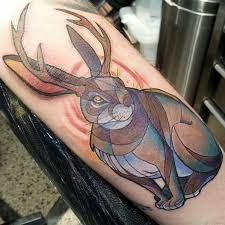 jackalope alex gregory at brass knuckle tattoo studio in minneapolis