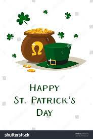 saint patricks day vector pot gold stock vector 368055779
