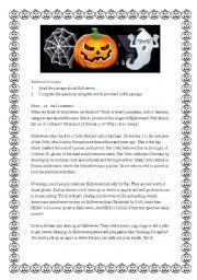 english teaching worksheets halloween readings