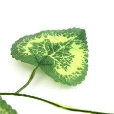 2 3m artificial shape green leaves garland home garden