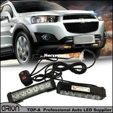 led strobe light kit 36w 2x6 led police strobe lights vehicle work light bar car warning