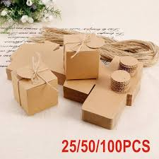 wedding gift boxes 100x eco kraft small gift boxes wedding favour chocolate