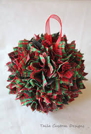 this festive and wonderful ornament is made of plaid
