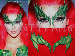Poison Ivy Halloween Costume Poison Ivy Mask Leaves Green Glitter Trim Leaf Costume Kim