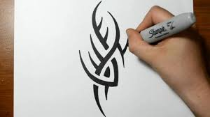 how to draw a simple spiky tribal design