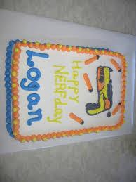 this kid had his birthday nerf gun cake my nephew wanted a nerf gun cake for his birthday