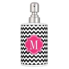 Pink And Black Bathroom Accessories by Pink Chevron Bath Accessory Sets Zazzle