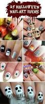 25 spooky u0026 simple halloween nail art ideas