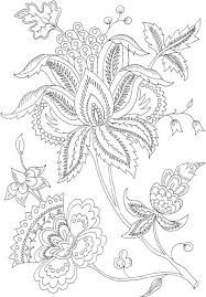 free printable flower coloring pages adults coloring pages