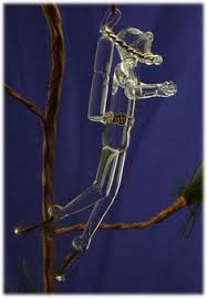 scuba diver tree ornament approx 5 with frosted