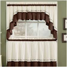 kitchen cream brown mini curtain window kitchen window curtains