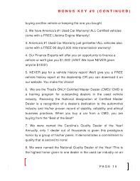 frank myers auto presents 8 keys to a better car deal