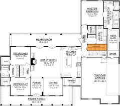 architecture design plans plan 51758hz three bed farmhouse with optional bonus room