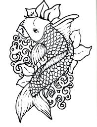 koi fish coloring 70 coloring pages adults