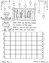 february coloring page 11605