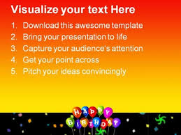 happy birthday festival powerpoint templates and powerpoint