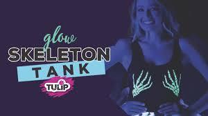 glow skeleton hand tank top using tulip colorshot glow youtube