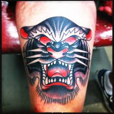 panther head tattoo on knee photos pictures and sketches